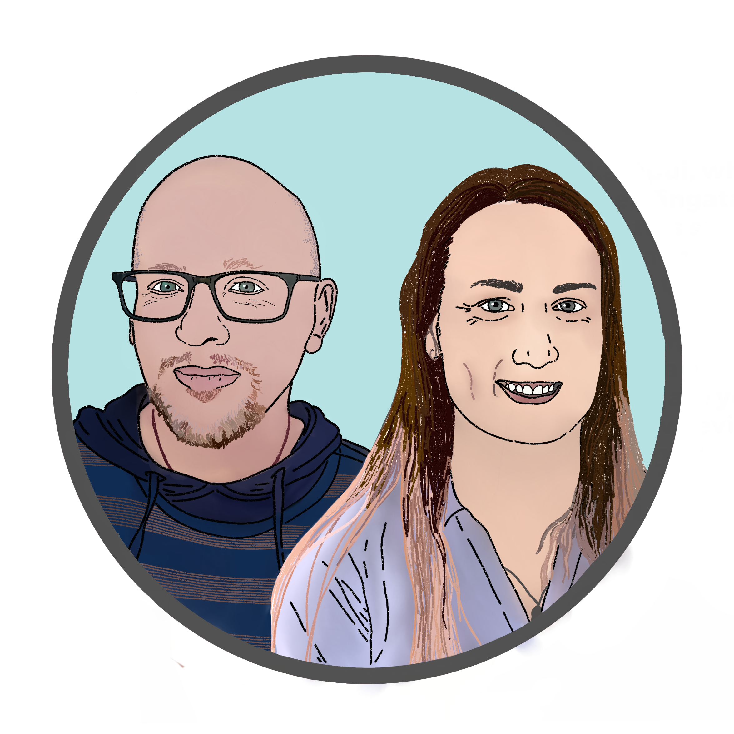 Picture of Jack and Jaimie button to the project team